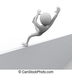 3D man falling