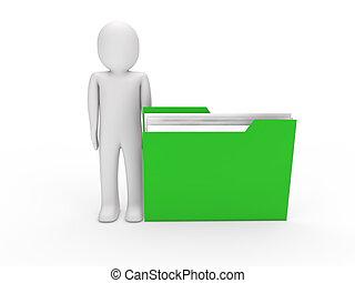 3d man file green