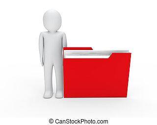 3d man file red