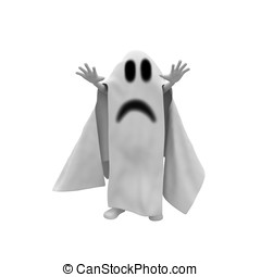 3d man ghost costume from halloween party