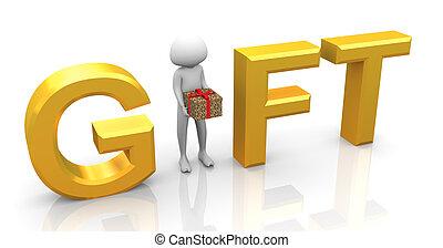 3d man gift