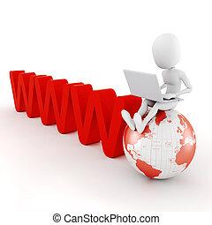 3d man global business