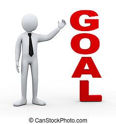 3d man goal word presentation