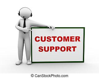 3d man headphone customer support