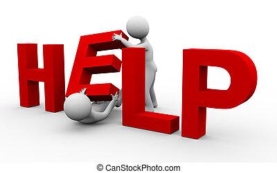 3d man help
