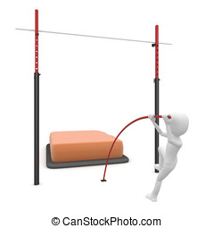 3d man high pole jump