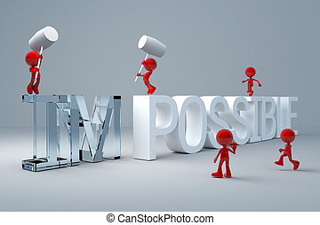 3d man Hit the impossible