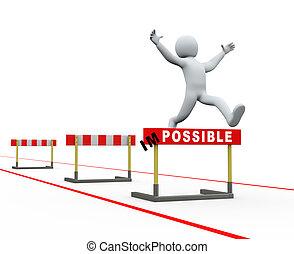 3d man impossible hurdles track jumping