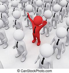 3D man in a crowd