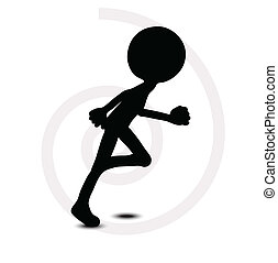 3d man in running pose - EPS Vector 10 - 3d man in running...