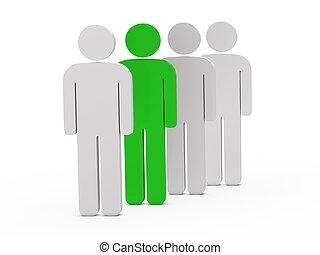 3d man leadership green