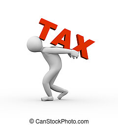 3d man lifting tax