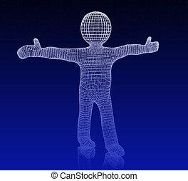 3d man. Medical icon