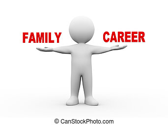 3d man open hands family career