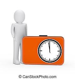 3d man orange time glock