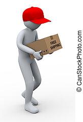 3d man parcel delivery
