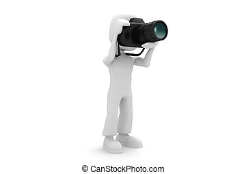 3d man photographer