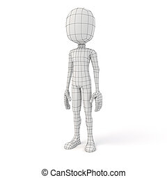 3d man posing in neutral position