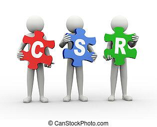 3d man puzzle piece - csr