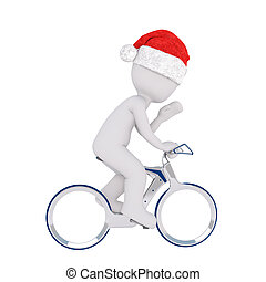 3d man riding on a bicycle