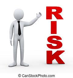 3d man risk word presentation