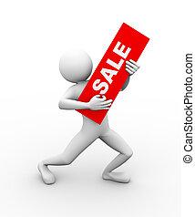 3d man sale offer illustration