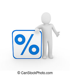 3d man sale percentage blue