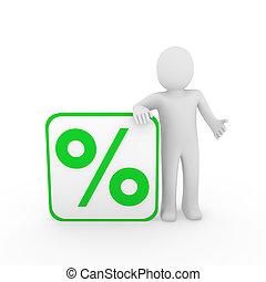3d man sale percentage green