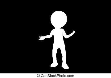 3d man silhouette