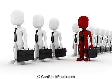 3d man standing inline