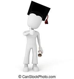 3d man student