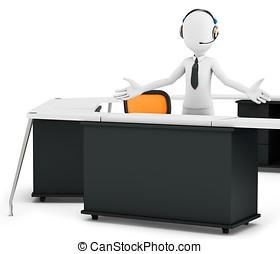 3d man support call center