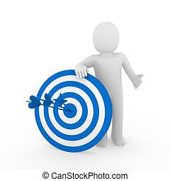 3d man target blue
