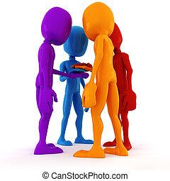3d man team meeting