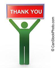 3d man thank you