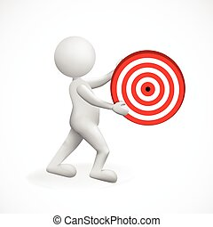 3d man white people holding target logo