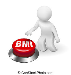 3d man with BMI ( Body Mass Index) button