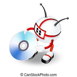 3d man with CD