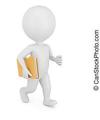 3d man with folder
