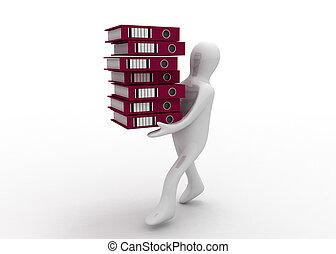 3d man with folders