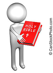 3d Man with Holy Bible