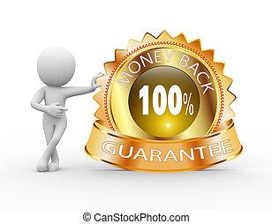 3d man with money back guarantee