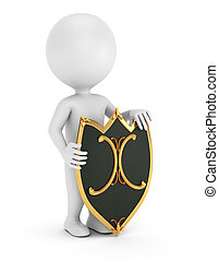 3d man with shield