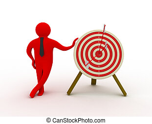 3d man with target