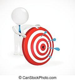3d man with target logo