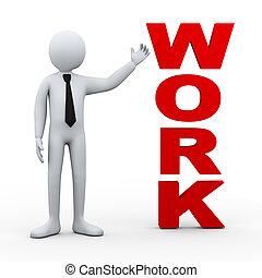 3d man work word presentation