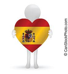 3d, mann, besitz, a, spanien kennzeichen