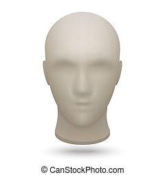3d mannequin head - 3d realistic mannequin head