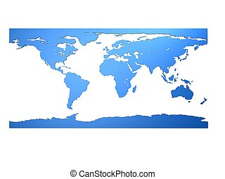 3d map - 3d rendered illustration of an worldmap