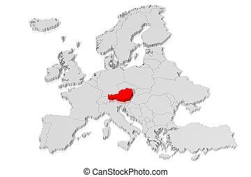 3D map - Austria
